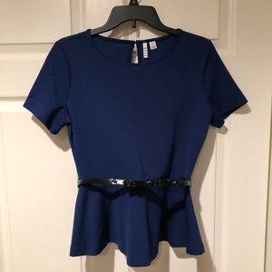 Navy Blue Elle dress shirt
